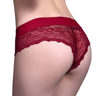 Women Sexy Crochet Lace Seamless Low Waist Thongs Underwear Cheekinis