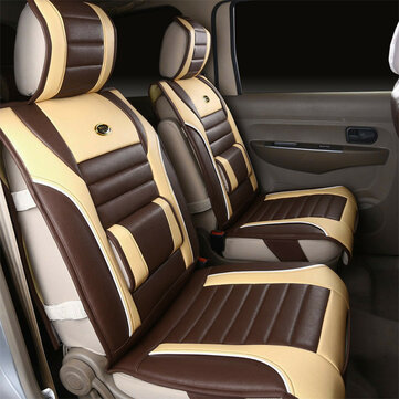 1Pcs PU Leather Car Front Seat Cover Support Cushion Pad Full Surround 7-Seat Universal