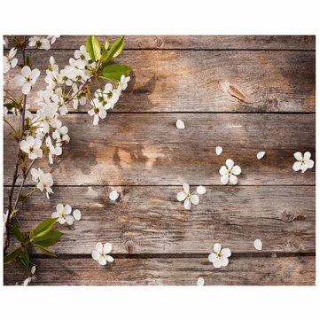 5x3FT Ahşap Zemin Fotoğraf Arka Planı Çekici Çiçek Arka Planı Studio Takımları