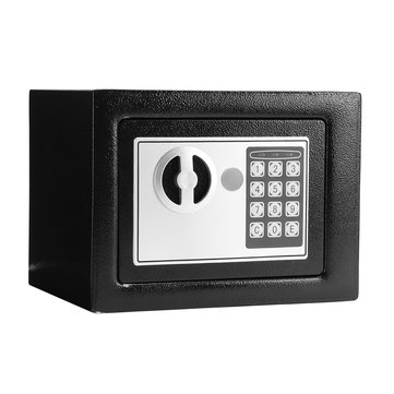 Black Steel Digital Electronic Safe Box Keypad Lock Home Office Hotel Safe Box Override Key