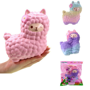 Vlampo Squishy Alpaca Huge Jumbo 17x17x12cm Toysweety Licensed Slow Rising Original Packaging