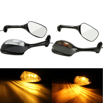 Buy Pair LED Turn Signal Rear View Mirrors For Suzuki GSXR600 GSX-R 750 06-12 GSXR 1000 for $39.89 in Banggood store