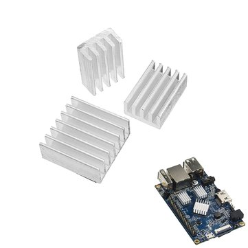3pcs Adhesive Aluminum Heat Sink Cooling Kit For Orange Pi PC / Lite / One