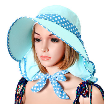 Femmes Été Wide Brim Sunscreen Hat Breathable Outdoor Face Neck Protactive Gardening Cycling Cap