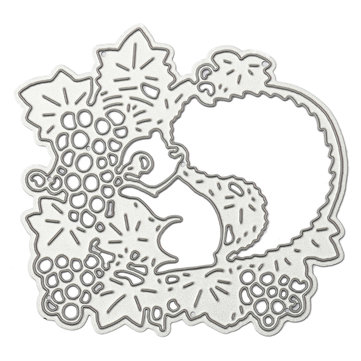 7.3 x 7.1 cm Squirrel Pattern Scrapbooking DIY Album Card Paper Craft Maker Metal Cutting Die