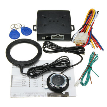 Car Engine Push Start Buttons RFID Lock Ignition Starter Keyless Entry Start 12V