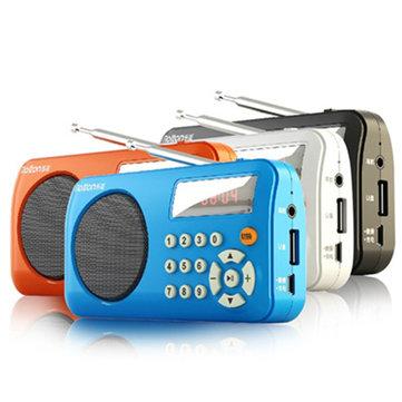 RoltonT3MiniTaşınabilirÇokFonksiyonlu FM Stereo Radyo Destek Kartı Çalma