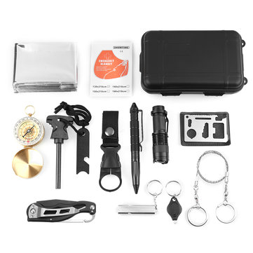 13 in 1 Survival Gear Kits SOS Emergency Survival Tools Kit Emergency SOS Survive Tool