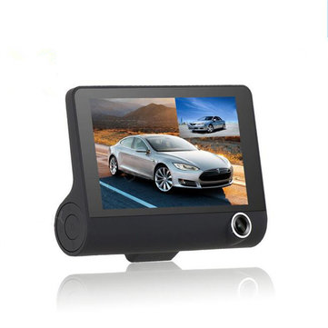 4 Inch 1080P Dual Lens Car DVR Dash Cam Camera Video Recorder Rear View G-sensor