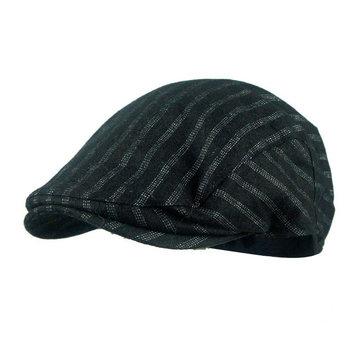 f49f26d889012 Men Herringbone Tweed Gatsby Newsboy Cap Cotton Ivy Golf Hunting Driving  Flat Cabbie Hat