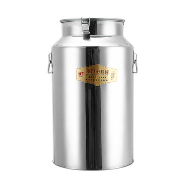 35/42/48/58L Stainless Steel Seal Tank Barrel Wine Beer Whiskey Kegerators Milk Churn with Dipper
