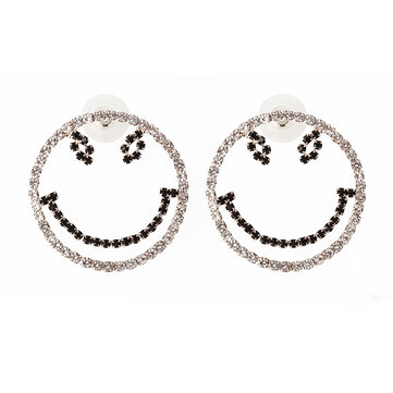 Sweet Large Smile Modeling Earrings