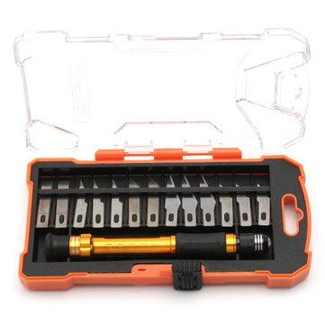 Ensembledecouteauxsculptés14en 1 et précision Couteau de rasoir Exacto Cutting Art Craft Hobby Tool Kit