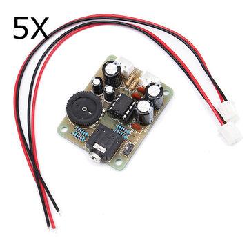 5Pcs TDA2822 Power เครื่องขยายเสียง โมดูลเสียงสเตอริโอ DIY ชุด ชุดการเรียนรู้ด้วยระบบอิเล็กทรอนิกส์