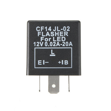 3 Pin 12V 0.1-20A LED Flasher Relay for Motorcycle Car Blinker Indicator