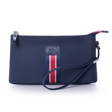Men Oxford Long Wallet Clutch Wrist Bag Document Passpsort Phone Handbag