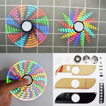 5pcs Geekcreit® DIY Full Color Rotating POV DIY LED Flash Kit Hand Spinner Electronic Kit