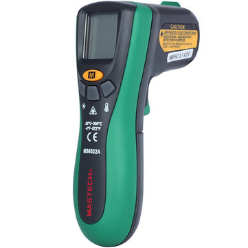 Mastech MS6522A Portable LCD Digital Infrared Thermometer 10:1(D:S) Non Contact Handheld Laser Temperature Tester