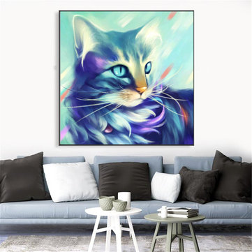 30×30CM 5D Cat DIY Diamond Paintings Cross Stitch Tool Set Diamond Embroidery Box Art Craft
