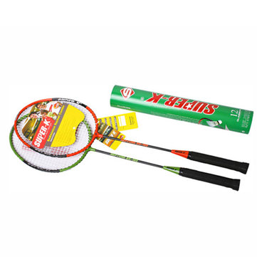 SUPER-K Badminton Racket Set Sports Training Practice Aluminum Alloy Battledore