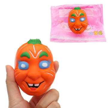 Halloween Pumpkin Squishy 7.5*9.5CM Slow Rising With Packaging Collection Gift Soft Toy