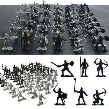 28PCS Soldier Knight Horse Figures & Accessories Model For Kids Children Christmas Gift Toys