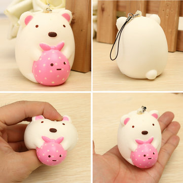 Squishy Bear Cute Kawaii Phone Bag Strap Pendent Gift Collection