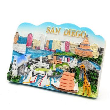 Resin Fridge Magnet Tourist Souvenir Favorite Travel Resin 3D Fridge Magnet San Diego