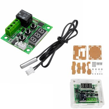 5pcs XH-W1209 DC 12V Thermostat Temperature Control Switch Thermometer Controller With Digital LED Display With Case