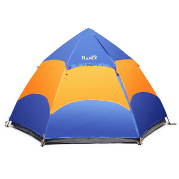 Outdoor Camping 5-6 People Automatic Instant Pop Up Tent Waterproof UV Proof Large Sunshade Canopy
