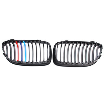 One Pair Matt Black M-Color Kidney Grille For BMW E90 E91 LCI 325i 328i 335i 09-11