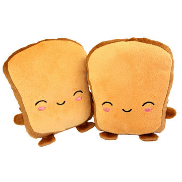 Fingerless USB Hand Warmer Smile Face Toast Cute USB Heating Half Motorcycle Gloves