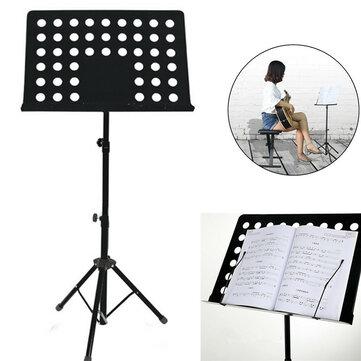 Metal Adjustable Music Stand คะแนนดนตรีผู้ถือ Foldable 80-165CM