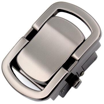 Men Alloy Automatic Business Leather Belt Buckle