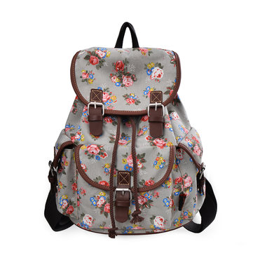 Women Patchwork Printing Backpack National Knapsack
