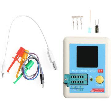 T7 Transistor Tester Multifunctional Tester TFT Diode Triode Capacitance Meter LCR ESR Meter NPN PNP MOSFET IR Tester