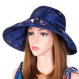 Women Summer Wide Brim Sunscreen Hats Foldable Mesh Breathable Sun Hat
