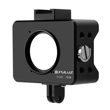 PULUZ PU313B Housing Shell CNC Aluminum Alloy Protective Cage with 37mm UV Lens Mount for Sony RX0
