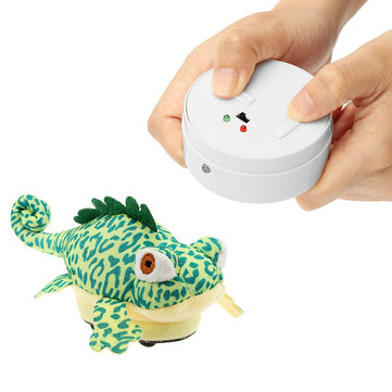 RC Remote Control Animal Plush Chameleon Pet Electric Infrared Sensor Simulation Tonic Gift