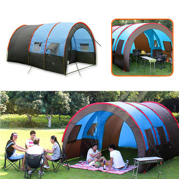 Xmund XD-ET4 8-10 People Camping Tent Waterproof Tunnel Double Layer Large Family Canopy Sunshade