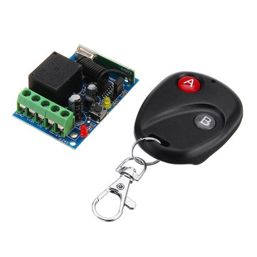DC12V 10-30M 1CH Wireless Relay Switch 315MHz/433MHz Electrical Remote Control Switch Receiver Board
