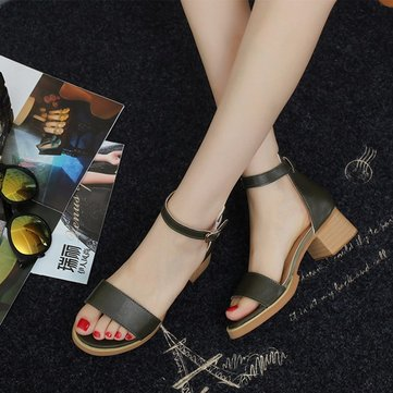 Summer Women Fashion Casual Comfortable Outdoor Beach Heeled Sandals Shoes