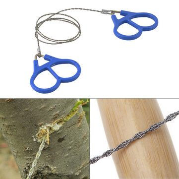 IPRee® Camping Wire Saw Stainless Steel Travel Garden Branch Fretsaw Emergency Survival Gear