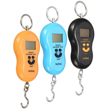 LCD 40kg Electronic Hanging Fish Luggage Pocket Portable Digital Weight Scale