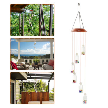 Honana DX-928 Mobile Fire Bird Solar Light Wind Chimes Wishing Family Party Garden Night Decor