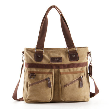 Multi Pocket Crossboby Bag Dual Use Schoudertas Canvas Handtas Voor Mannen