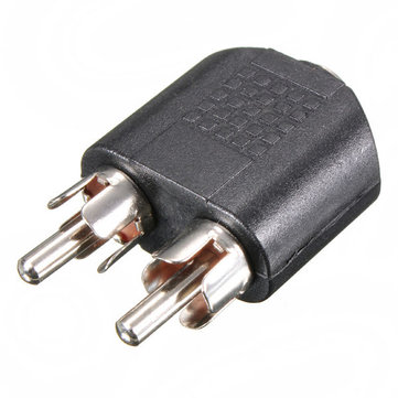 3.5mm 1/8 inch Female Jack To Dual RCA Male Y Splitter Audio Adapter Converter