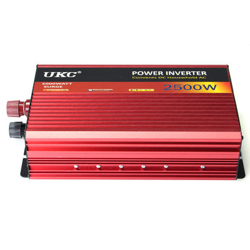 2500W Car Inverter DC 12V To AC 220V Power Converter Charger Modified Sine Ware
