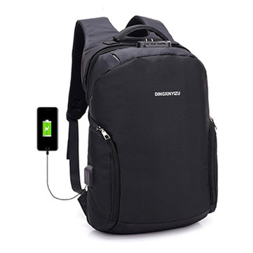 18L Men Women Anti-theft USB Charging Port 15 Inch Laptop Notebook Backpack School Tote Bag