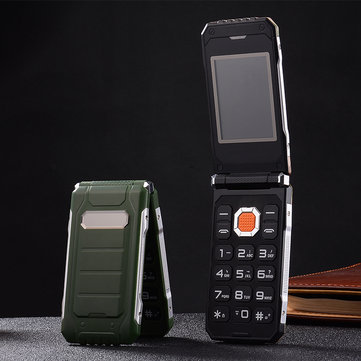 Hodoo X7 Flip Phone 2.4'' 2800mAh Big BOX FMDual Flashlight Dual SIM Card Long Standby Feature Phone